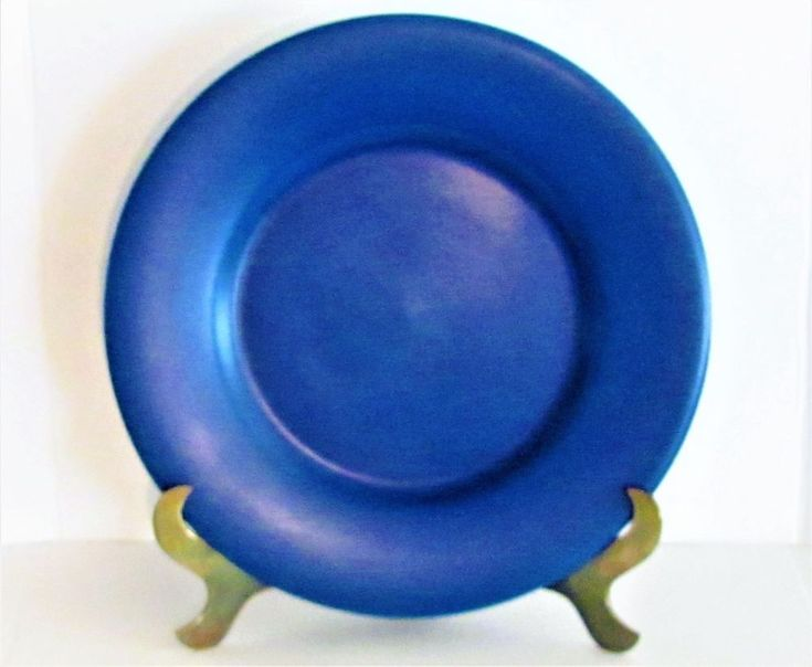 """PERFECT GIEN FRANCE COUNTRY FRENCH BLUE """"PRESENTATION"""" HUGE 13"""" CHARGER PLATE #Gien #CountryFrench"""