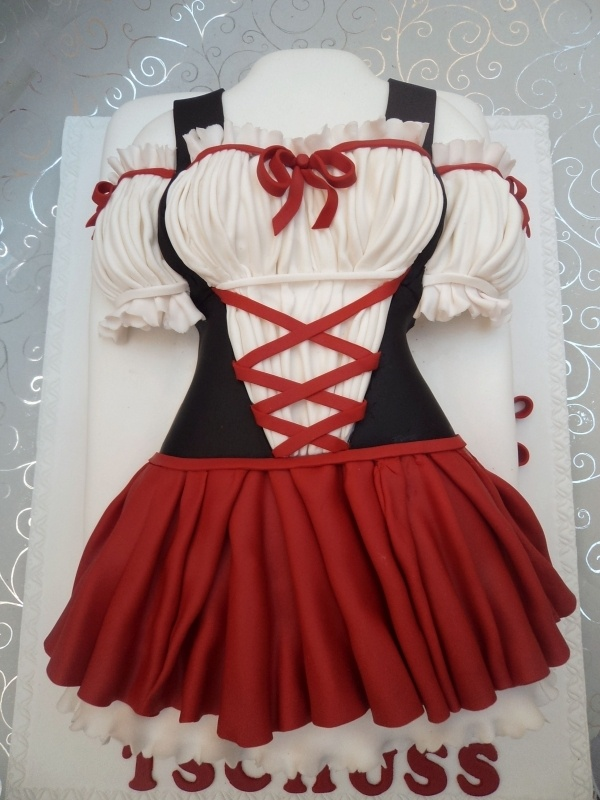 German Dress Cake ... not exactly German food, but still cute