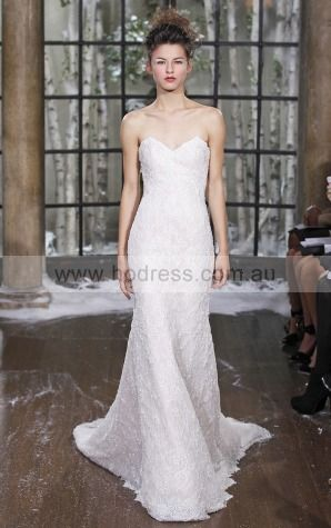 Sleeveless Zipper Lace Sweetheart Sheath Wedding Dresses gjcf1003
