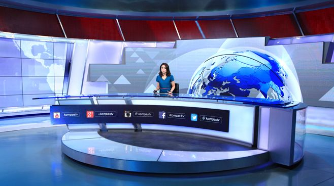 Kompas Tv - - News Sets Set Design