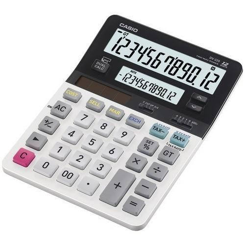 CASIO(R) DV-220 Dual Display Desktop Solar Calculator R810-CIODV220
