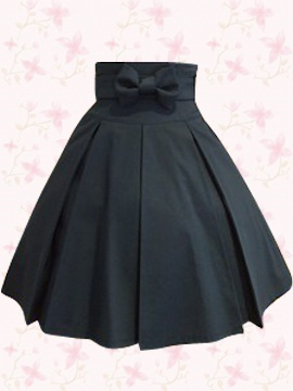 Falda de tablones con lazo