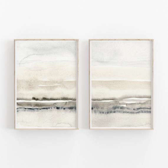 Beige And Grey Painting Set Of 2 Abstract Watercolor Print Printable Art Instant Download Modern Minimalist Poster Printable Wall Decor Grey Painting Printable Art Abstract Watercolor