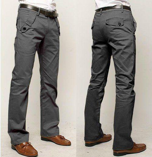 dos pantalónes grises