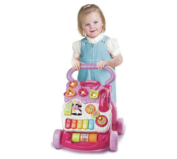 Buy VTech First Steps Baby Walker - Pink at Argos.co.uk, visit Argos.co.uk to shop online for Baby walkers, Baby walkers, ride-ons and trikes, Baby toys, Baby and nursery