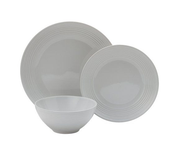 Buy Heart of House Bicester 12 Pc Stoneware Dinner Set - White at Argos.co.uk, visit Argos.co.uk to shop online for Crockery, Tableware, Cooking, dining and kitchen equipment, Home and garden