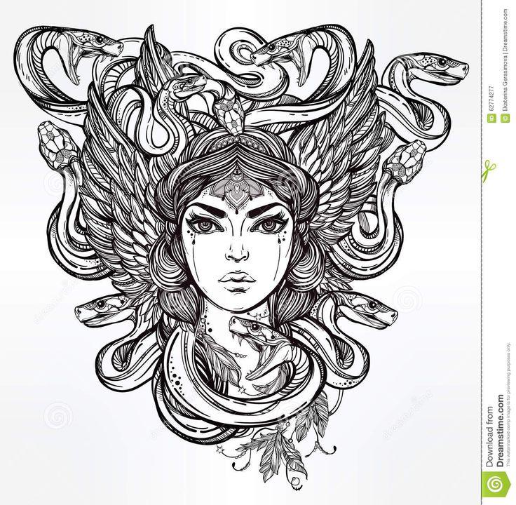 Resultado de imagen de medusa mitologia ilustracion