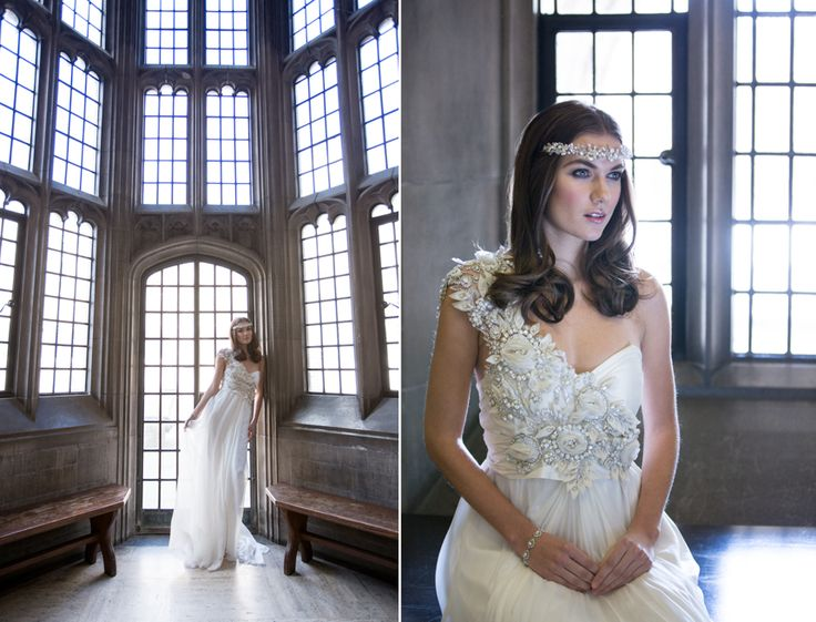 Love the windows at this Hart House style shoot. Model is wearing an exquisite gown provided by Sash & Bustle, Toronto