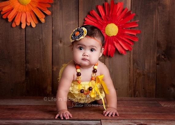 Kamryn 1 year   Kids necklace, Flower girl dresses, Flower ...