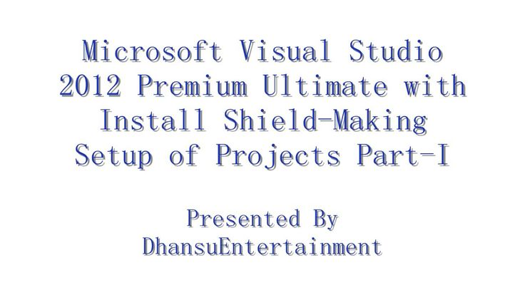 Microsoft Visual Studio 2012 Premium Ultimate with Install Shield Making Setup of Projects Part I - There are effective ways to learn a a computer programming language in Visual Basic. You must know your own reasons for learning Visual Basic. Why are you learning Visual Basic?  1. Online tutorials 2. Books 3. Making sample applications Read More at  http://www.ingenuitydias.com/2014/06/learning-microsoft-visual-basic.html
