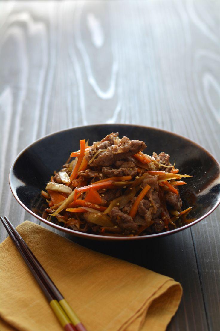 きんぴら牛肉ごぼう。(肉入りきんぴら) [焼き・揚げもの - 肉類 ... 昨日の晩ごはんの一品のレシピのお話です。