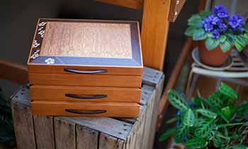 Custom Wooden Jewelry Boxes - Handmade Wood Boxes - Heartwood Creations