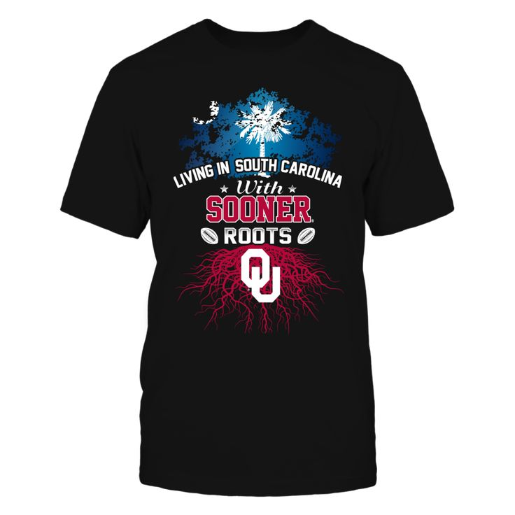 Living in South Carolina with Sooners Roots T-Shirt, Oklahoma Sooners Official Apparel - this licensed gear is the perfect clothing for fans Available for a Limited Time Only. Guaranteed safe checkout: PAYPAL | VISA | MASTERCARD Click ADD TO CART To Order Yours!  The Oklahoma Sooners Collection, OFFICIAL MERCHANDISE  Available Products:          Gildan Unisex T-Shirt - $24.95 Gildan Women's T-Shirt - $26.95 District Men's Premium T-Shirt - $27.95 District Women's Premium T-Shirt - $29.95…