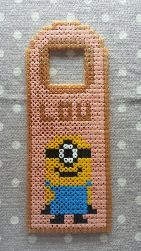 Custom minion door hanger hama beads by Fifinath78