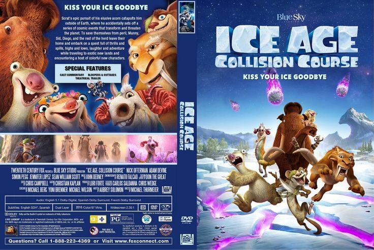Ice Age: Collision Course (2016) Custom DVD Cover