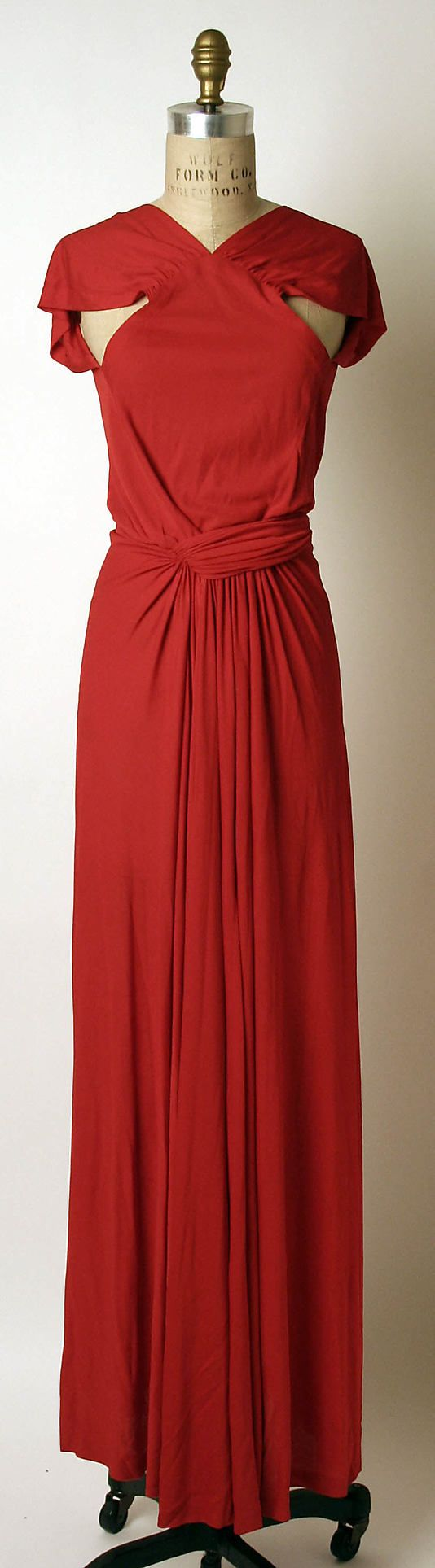 1970 Madame Gres Evening dress Metropolitan Museum of Art, NY. To learn more about this dress go to http://metmuseum.org/art/collection/search/80480?rpp=20&pg=39&ao=on&ft=dress&pos=763