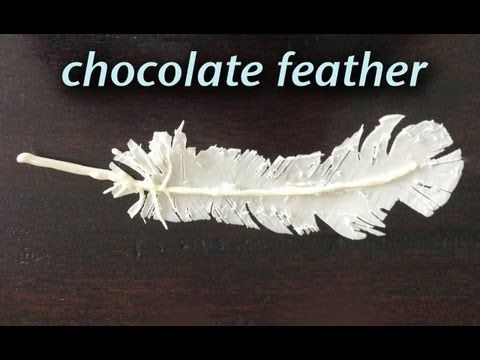 Chocolate Feather Decoration Garnish How To Cook That Ann Reardon - YouTube