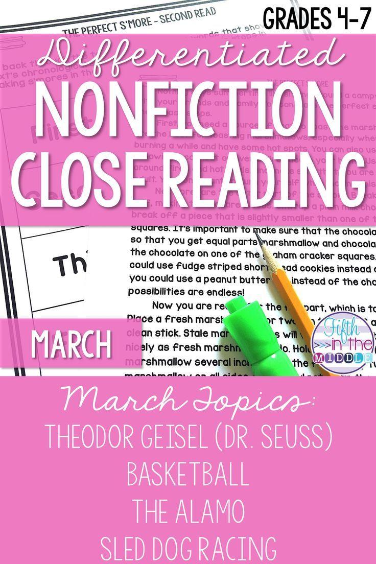 March Nonfiction Close Reading Comprehension Passages And Questions Reading Comprehension Passages Close Reading Comprehension Comprehension Passage [ 1104 x 736 Pixel ]