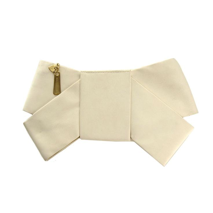 carteira laço off-white