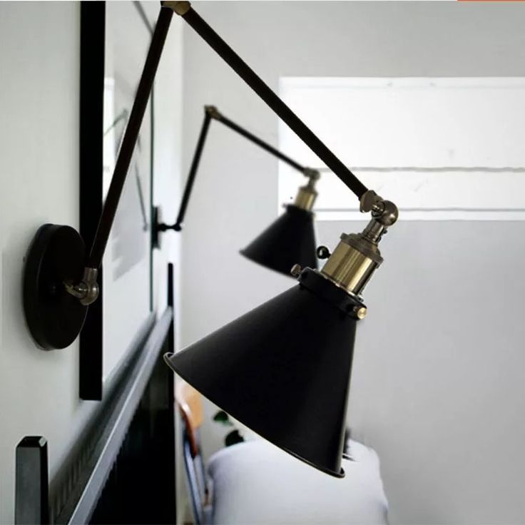 Vintage Wrought Iron Wall Lights Kitchen Antique Indoor Wall Sconce Industrial Chandelier Lighting Black Modern Small LED Lamp #Affiliate