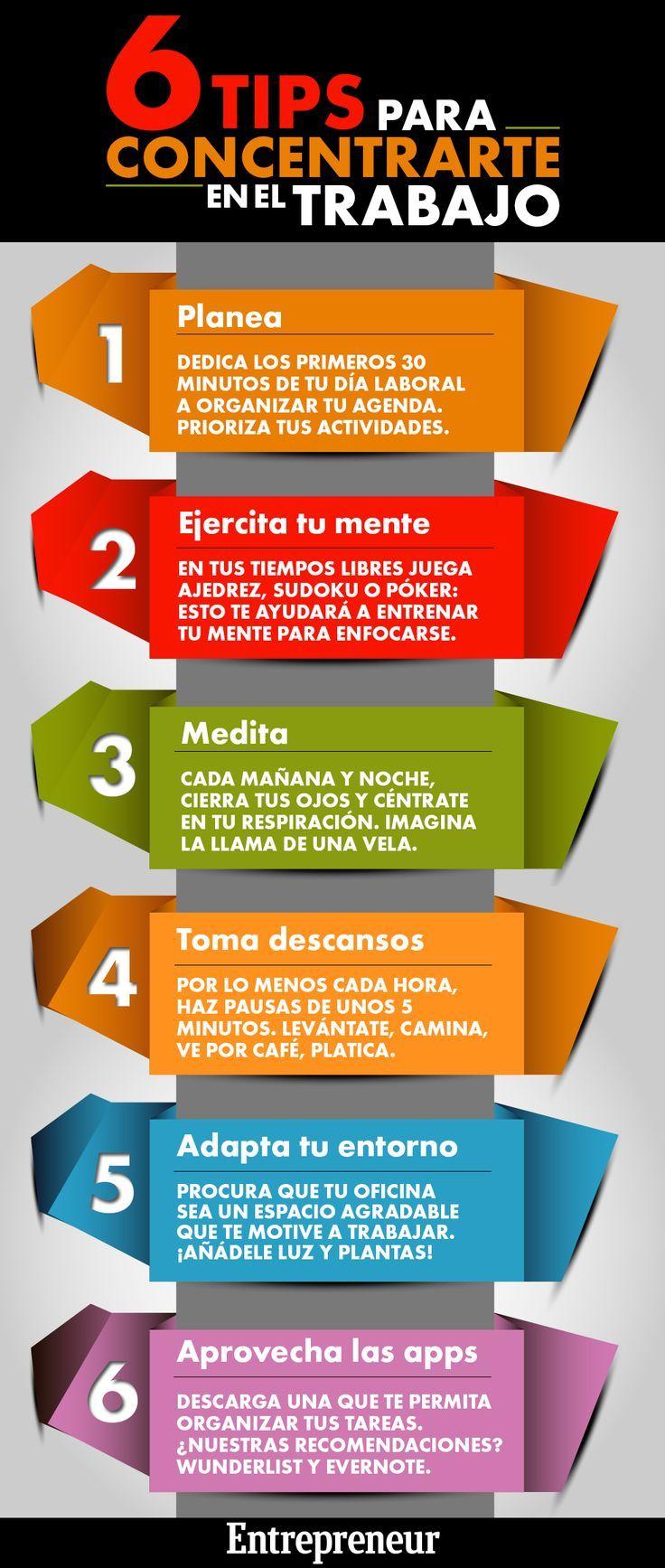 6 Tips para concentrarte en el trabajo