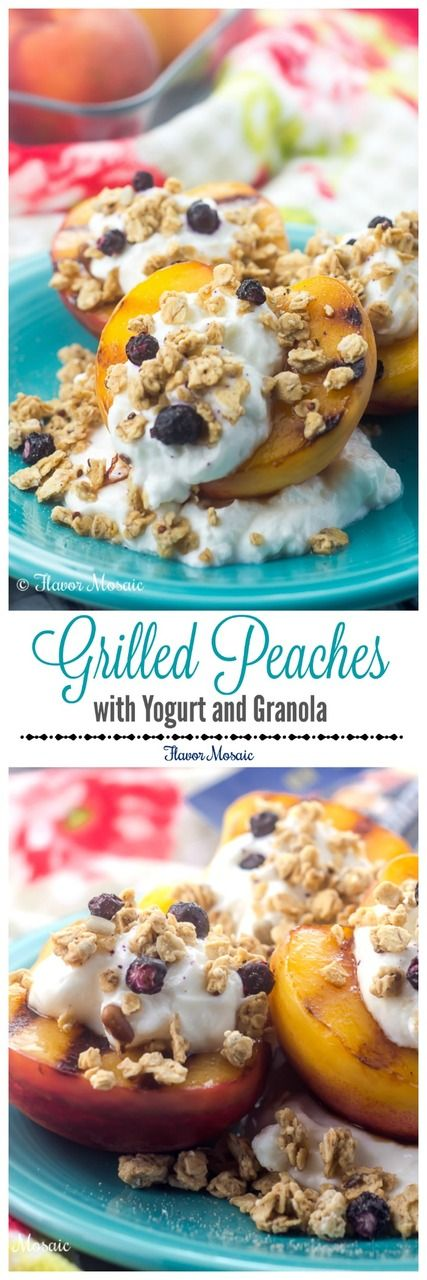 Grilled Peaches with Yogurt and Granola make a quick and easy yet delicious and wholesome breakfast or dessert. http://flavormosaic.com/grilled-peaches-yogurt-granola/?utm_campaign=coschedule&utm_source=pinterest&utm_medium=Flavor%20Mosaic&utm_content=Grilled%20Peaches%20with%20Yogurt%20and%20Granola #GranolaMyWay #ad @quaker