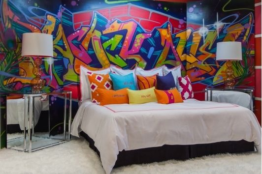 258 best urban art interiors images on pinterest graffiti bedroom cool ideas and graffiti Painting graffiti on bedroom walls