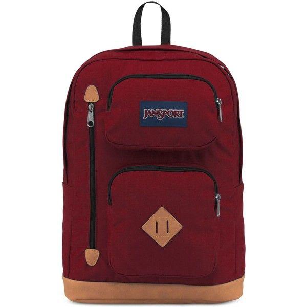 Jansport Men's Austin Backpack ($45) ❤ liked on Polyvore featuring men's fashion, men's bags, men's backpacks, viking red, mens backpack and mens laptop backpack