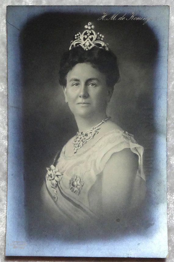 Queen Wilhelmina Netherlands Real Photo RPPC Postcard c1905, Antique Vintage, European Royalty Regent Regnal, Crown Jewels by OakwoodView, $15.00