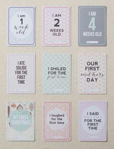 Printz Baby Milestone Cards Preview