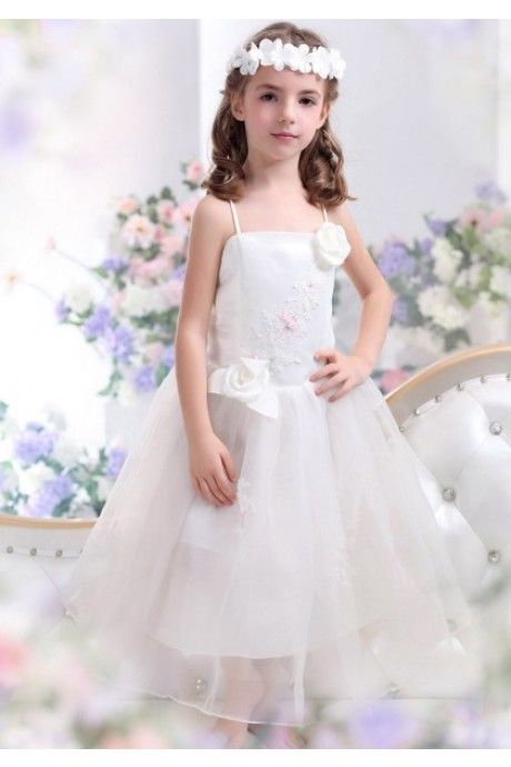 A ライン アイボリー 結婚式 子供 ドレス Falz0017