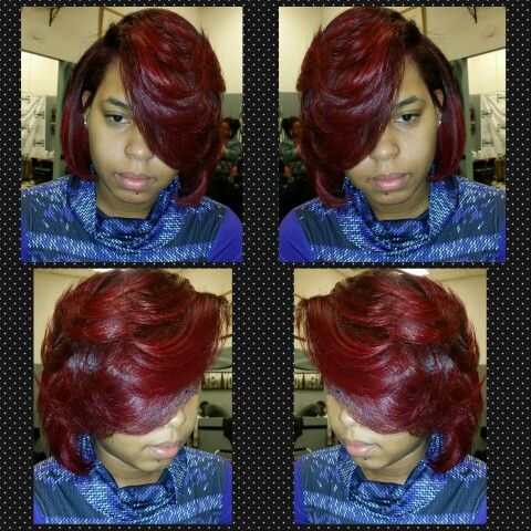 Vampire red by Manic Panic and Black Berry by Ion. I mox them both and created this color I call Winter Red. Come see me Tiwanda at Judy's Unisex Hair Salon in Jonesboro Ga. Contact me at 6785457209
