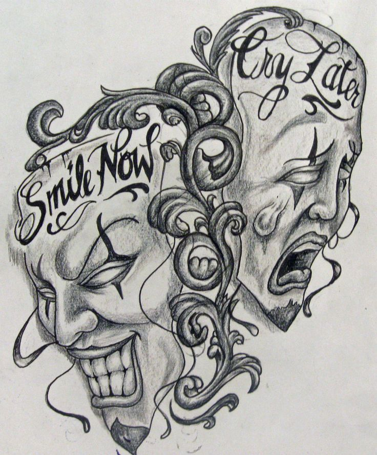 Smile Now Cry Later Tattoo: 18 Best Laugh Now Cry Later Tattoo Drawings Images On