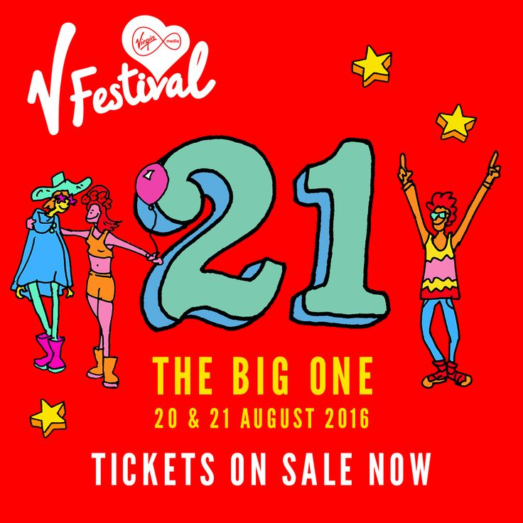 V Festival 2016. 21 & 22 August. Hylands Park Chelmsford & Weston Park Staffordshire. Don't miss out on our 21st Birthday #V21st www.vfestival.com
