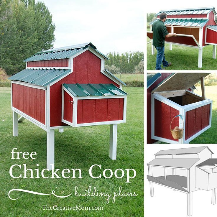 Free Chicken Coop Building Plans - Oh my gosh! This is the cutest little chicken coop ever!