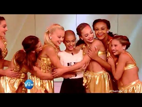 Dance Moms Cast Surpises A Girl With Cancer on the View - YouTube
