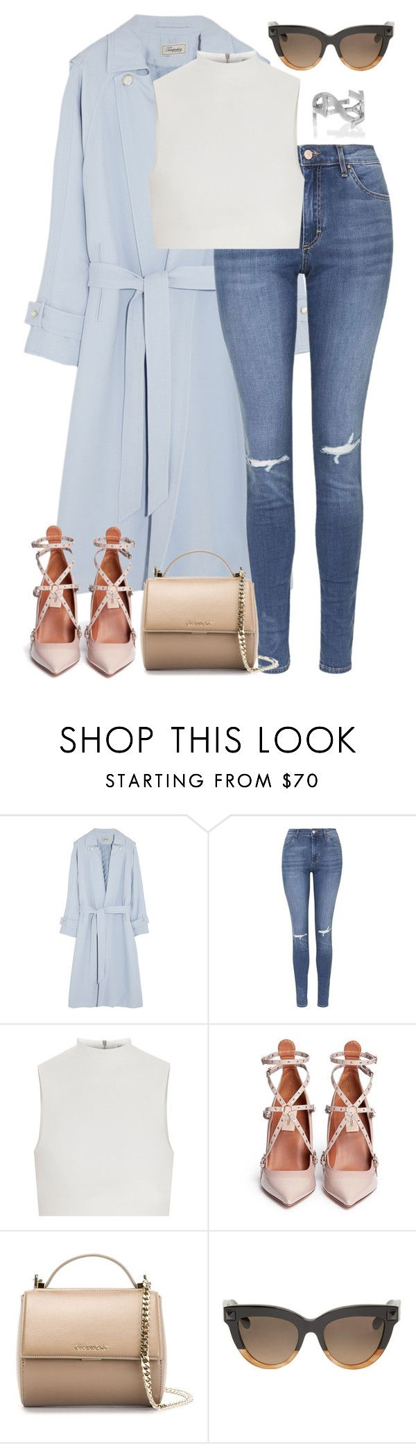 """""""Untitled #1830"""" by namelessale ❤ liked on Polyvore featuring Temperley London, Topshop, Elizabeth and James, Valentino, Givenchy and Yves Saint Laurent"""