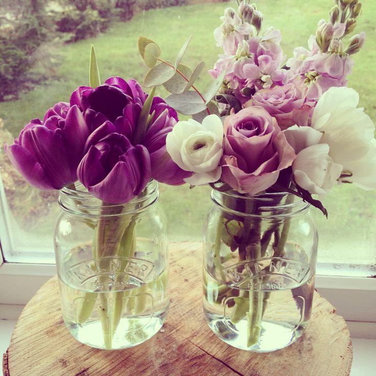 Kilner jar and flower love.