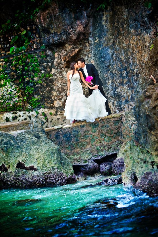 Timothy & Beejel were married in Ochos Rios, Jamaica, an exotic destination wedding location. Check out this real Real Caribbean Wedding: