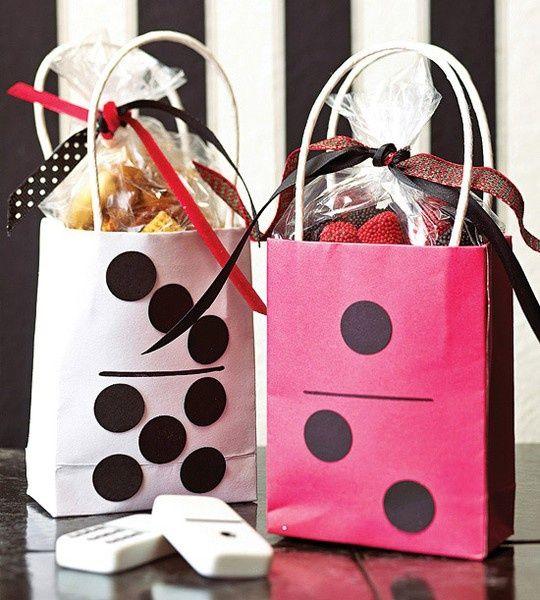 Bunco Party Themes | cute bunco gift bags scrappyanne