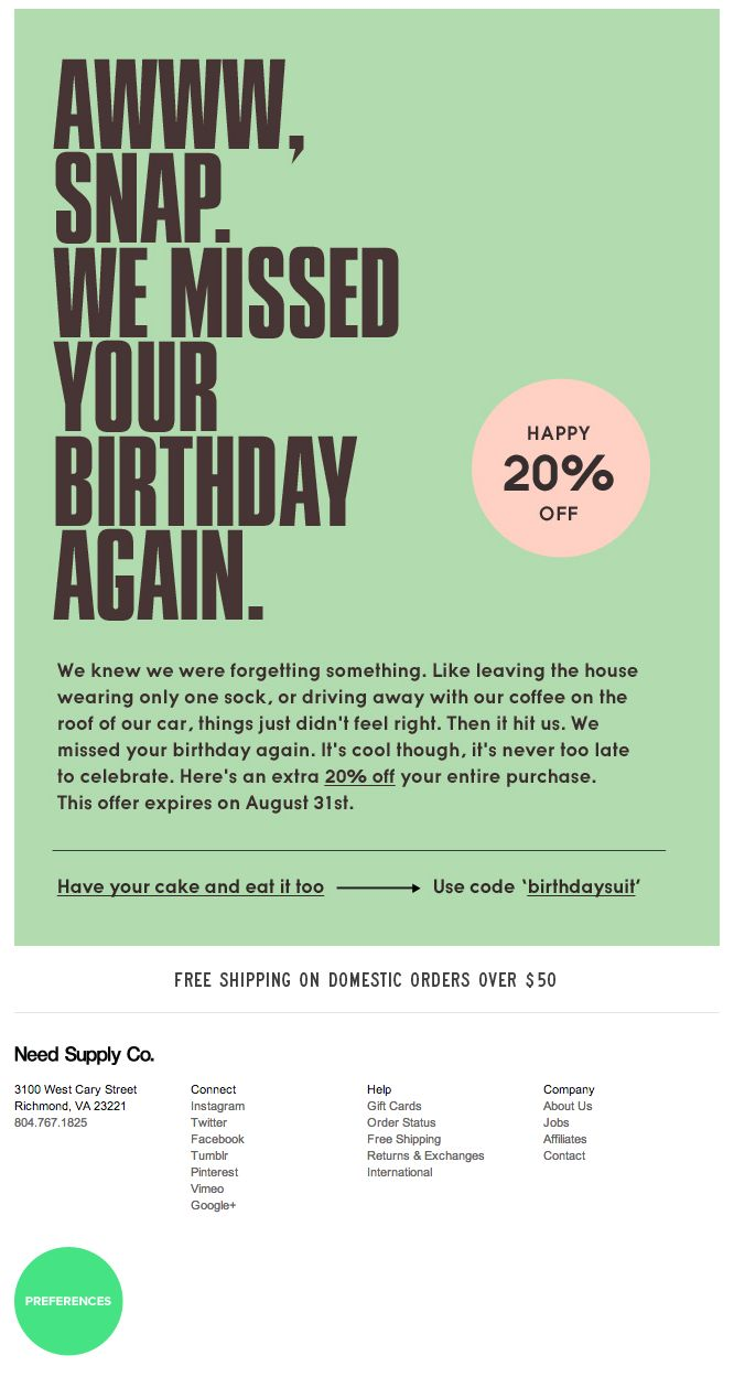 30 Best Birthday Emails Images On Pinterest Birthday Email Design