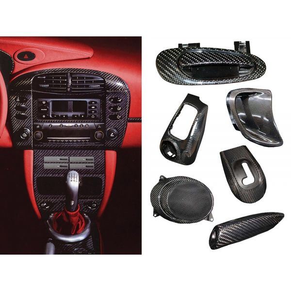 Porsche® 996 Interior, A-Pillar Set, Carbon Fiber, 1999-2005 - Porsche Parts and Accessories