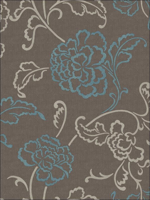 wallpaperstogo.com WTG-110444 Blue Mountain Transitional Wallpaper