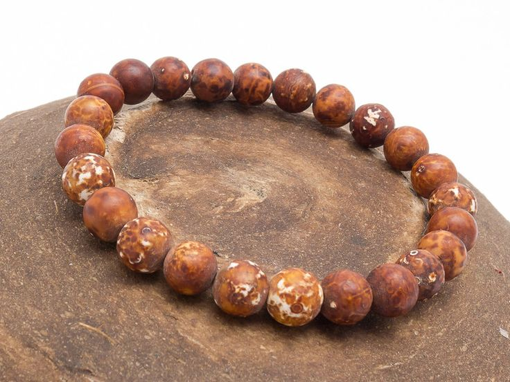 Mens Armbands – Bracelet mala stone agate – a unique product by Blackif on DaWanda