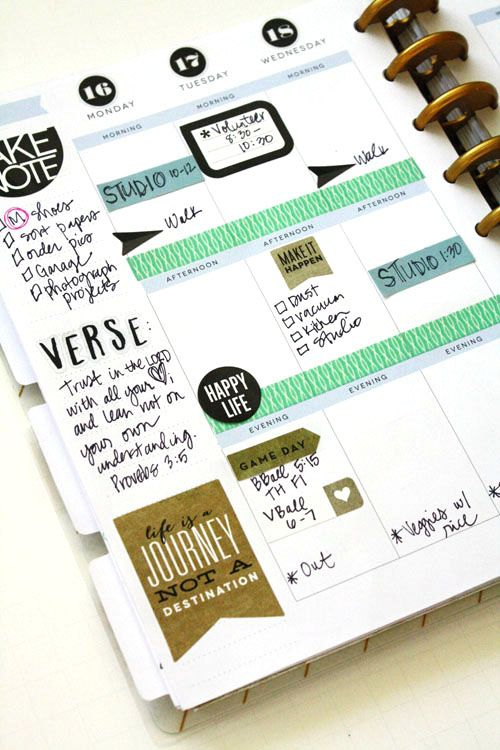 Jen randall on her create 365 the happy planner happy for Happy planner ideas