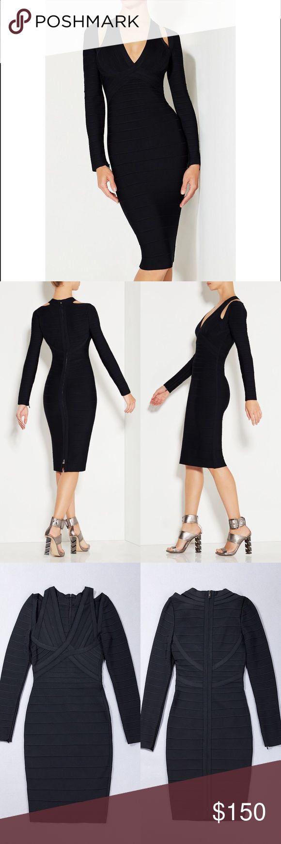 Black long Sleeved bandage dress Black long Sleeved bandage dress. Model is wearing size small. Her Junction Dresses Midi