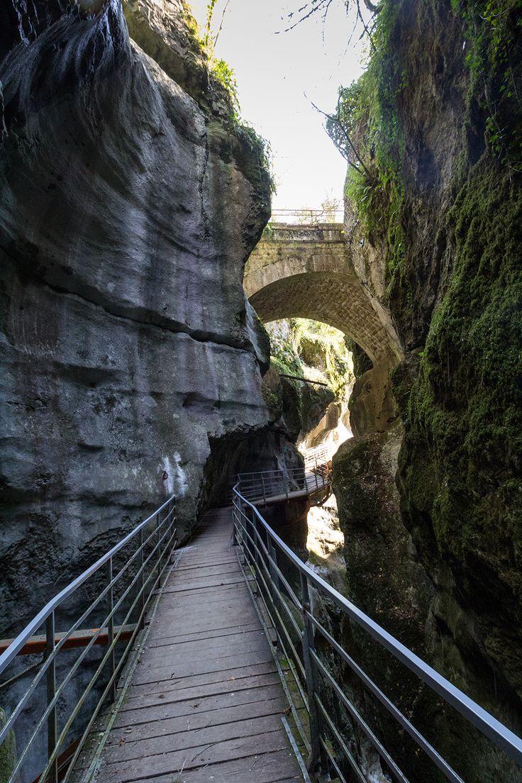 Les Gorges du Fier dans les environs d'Annecy.