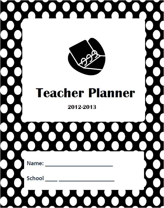 Teacher Planner- Black and White Dotted