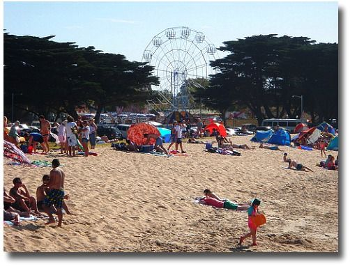 Summertime on Portarlington Beach Port Phillip Bay Victoria Australia compliments of http://www.flickr.com/photos/35599622@N07/4267705549/
