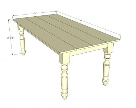Country kitchen table plans free woodworking projects for Table building plans free